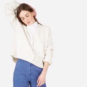 Everlane White Cotton Square Cardigan Sweater Sz S